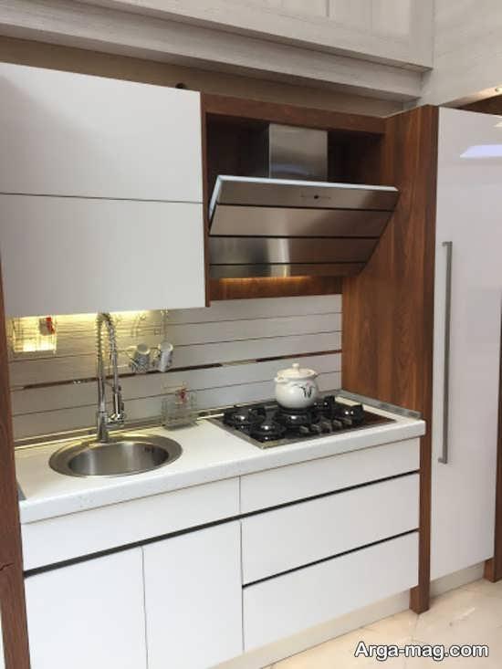 طراحی جذاب کابینت آشپزخانه کوچک