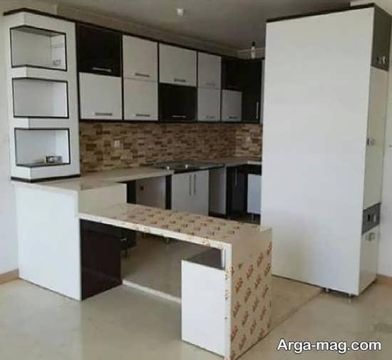 طراحی دوست داشتنی کابینت آشپزخانه کوچک
