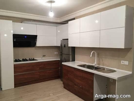 کابینت آشپزخانه کوچک با مدلی مدرن