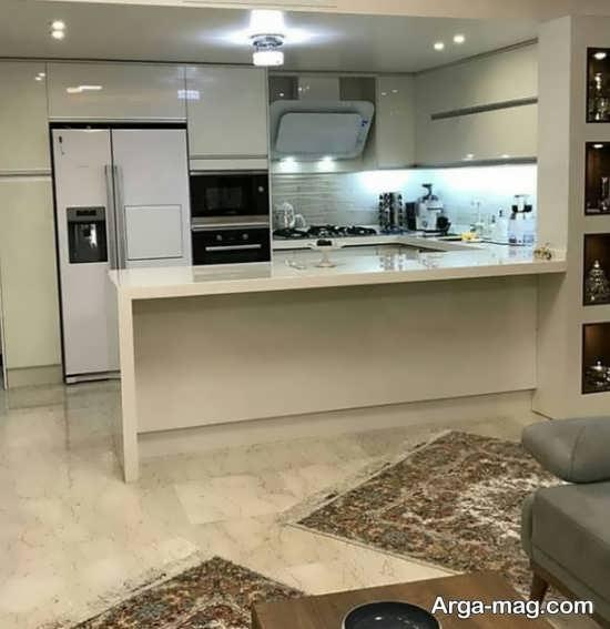 کابینت آشپزخانه کوچک با مدلی به روز
