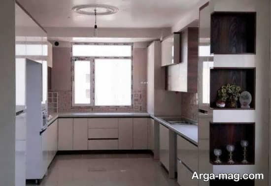 طراحی زیبای کابینت آشپزخانه کوچک