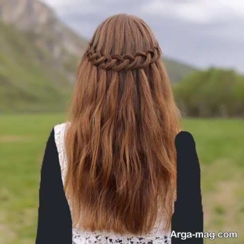 مدل بافت مو مجلسی دخترانه