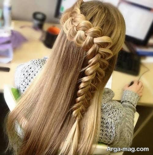 مدل بافت موی دخترانه مجلسی