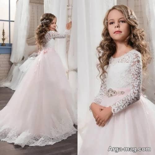 مدل لباس عروس بچه گانه بلند و جدید