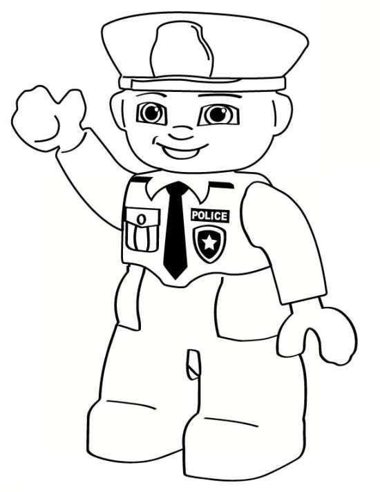 نقاشی جالب و زیبا پلیس