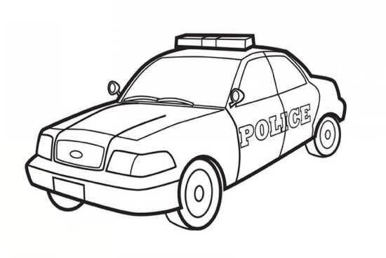 نقاشی جالب و زیبا ماشین پلیس