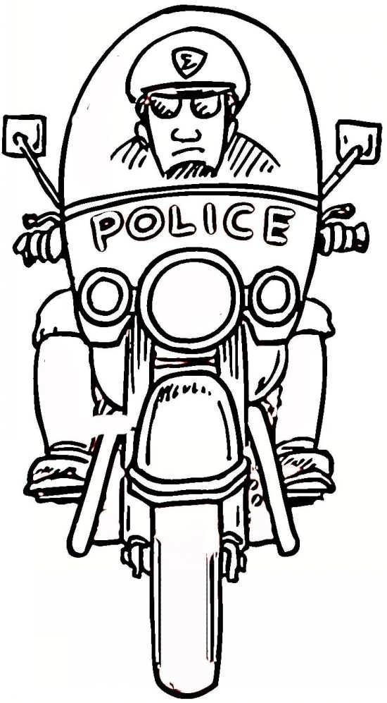 نقاشی کودکانه و زیبا پلیس