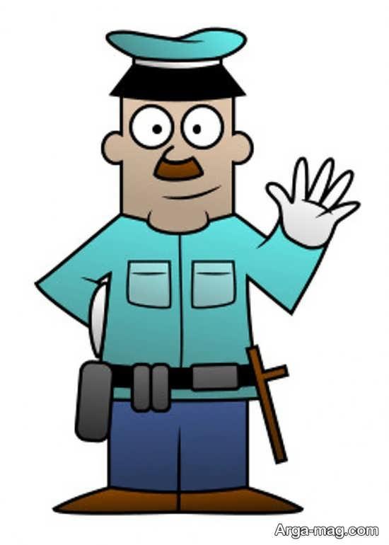 مدلی از نقاشی پلیس