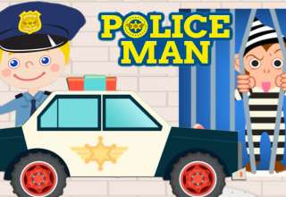 رنگ آمیزی و نقاشی پلیس برای کودکان