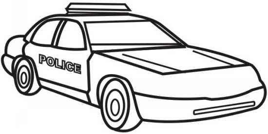 نقاشی ماشین پلیس