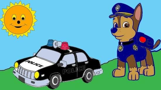 نقاشی پلیس برای کودکان