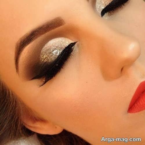 مدل آرایش چشم شیک و حرفه ای زنانه