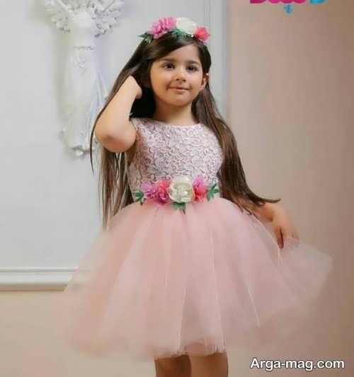 مدل لباس مجلسی عروسکی بچگانه