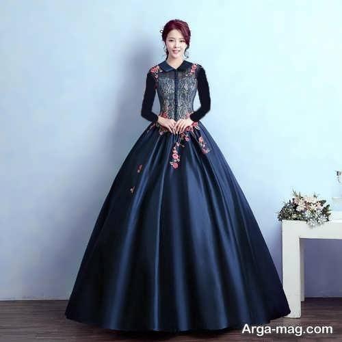 مدل لباس مجلسی عروسکی بلند
