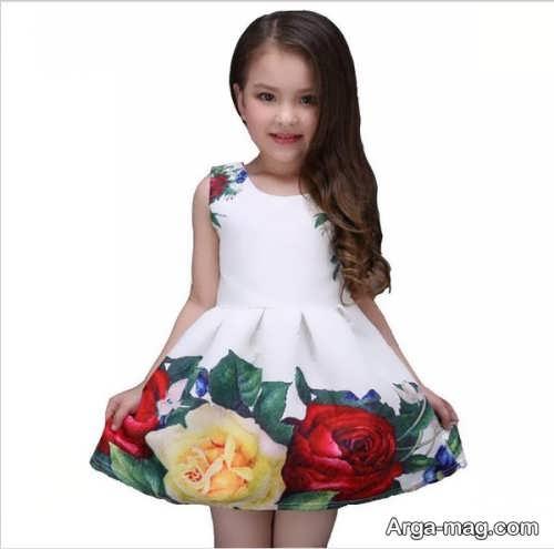 مدل لباس حریر بچه گانه گلدار