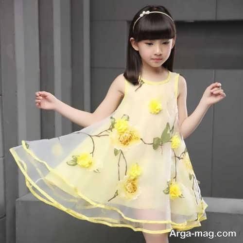 مدل لباس دخترانه حریر
