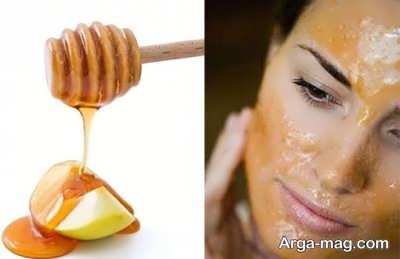 رفع جوش صورت با عسل و سیب
