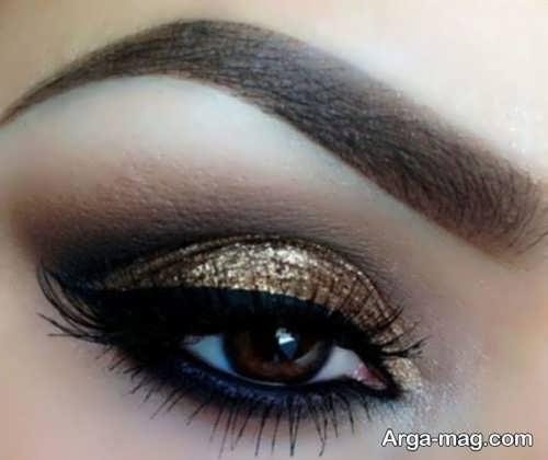 مدل آرایش شیک و جدید چشم زنانه