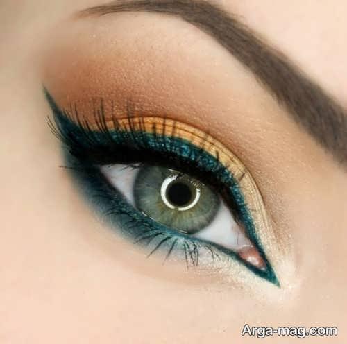 مدل آرایش شیک و زیبا چشم زنانه