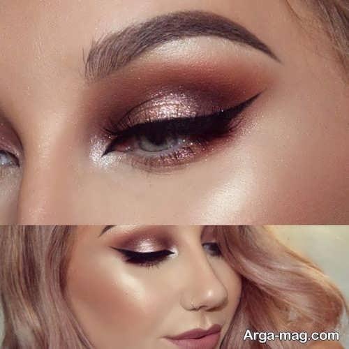 مدل آرایش زیبا و متفاوت چشم زنانه