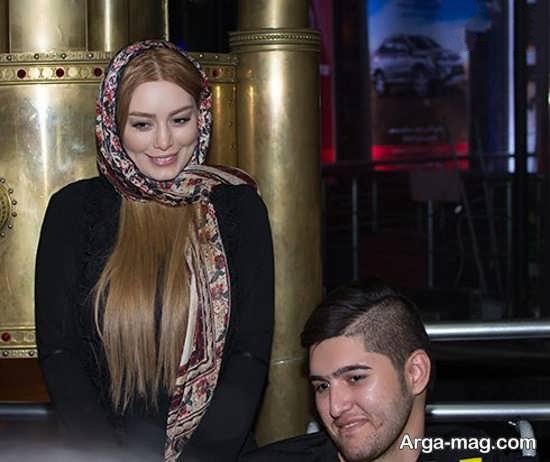 سحر قریشی با رنگ موهای مسی مدل موی جدید سحر قریشی در اکران فیلم جدیدش