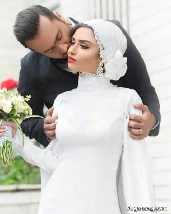 بوسه همسر بازیگر زن ایرانی