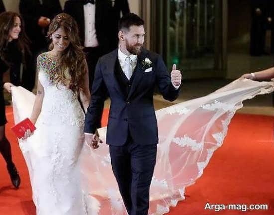 عکس های جذاب مراسم ازدواج لیونل مسی و همسرش