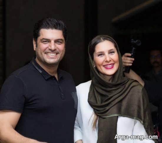 عکس زیبای سام درخشانی و همسرش
