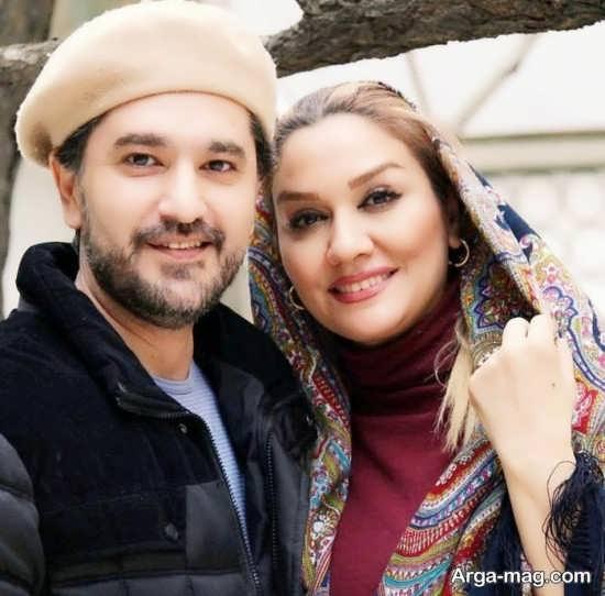 امیرحسین مدرس به همراه همسر و پسرش