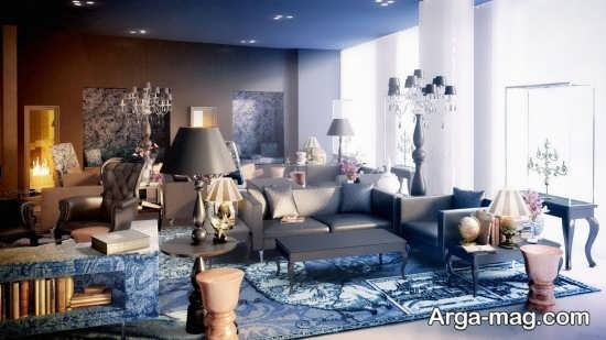 خواص رنگ آبی در دکور پذیرایی منزل