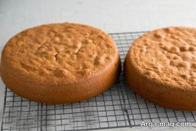 مراحل پخت کیک عسلی