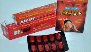 کاربرد قرص ریلایف در درمان دردهای شدید