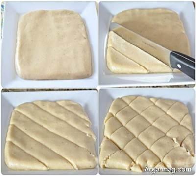 طرز پهن کردن خمیر