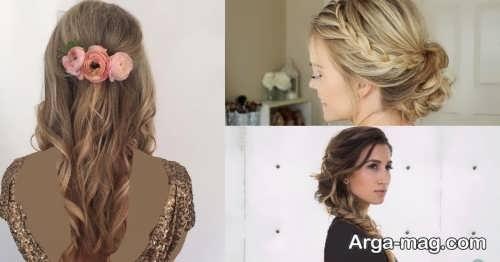 انواع مدل موی باز و بسته برای عروسی
