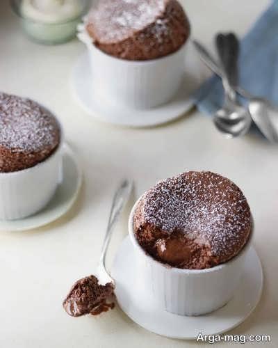 طریقه پخت سوفله شکلاتی