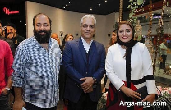 علی اوجی و نرگس محمدی در کنار مهران مدیری