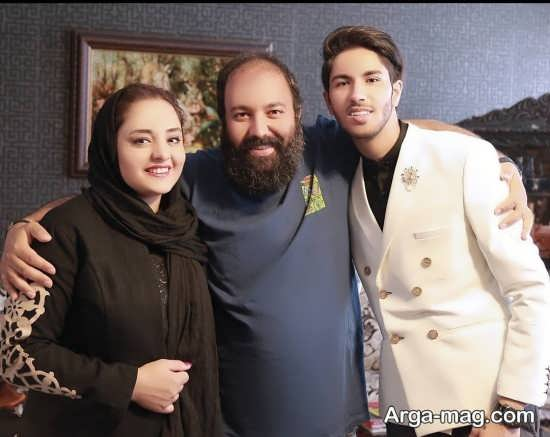 علی اوجی و همسرش نرگس محمدی