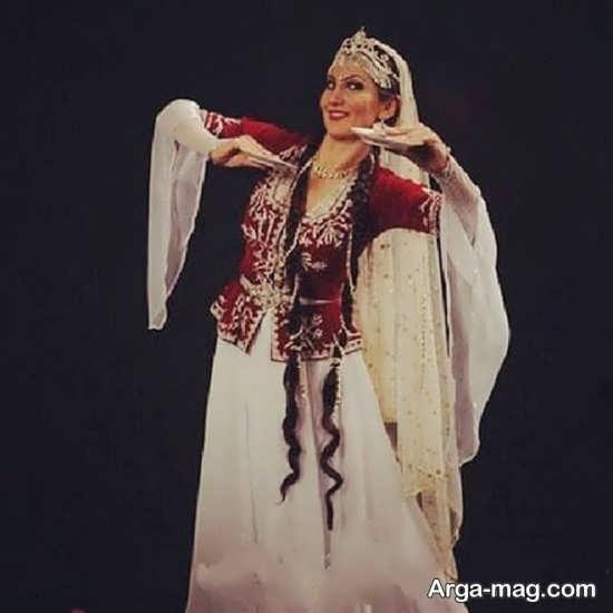 مدل لباس آذری زیبا زنانه