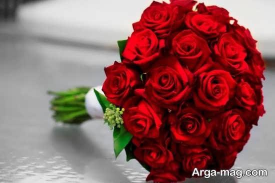 مدل دسته گل عروس رز قرمز