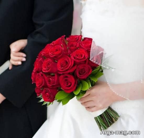 مدل دست گل عروس قرمز