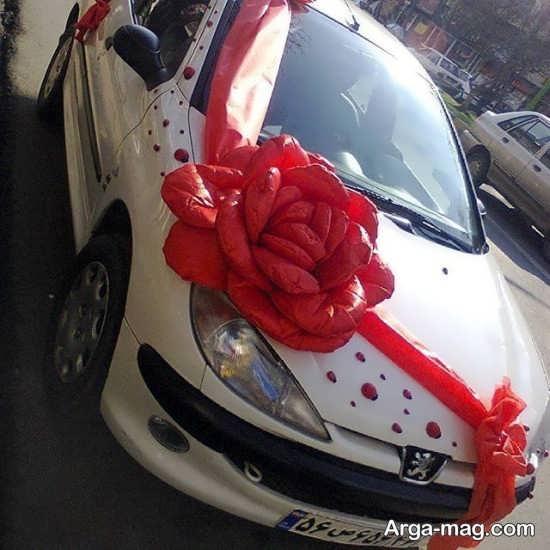تزیین خاص ماشین 206 برای عروسی