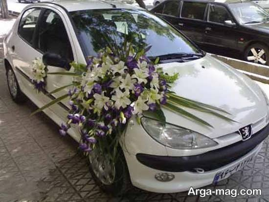 تزیین شیک ماشین عروس
