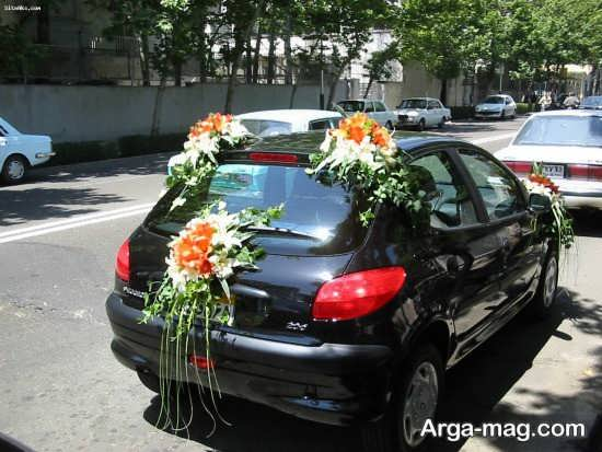 تزیین زیبا و خاص ماشین عروس