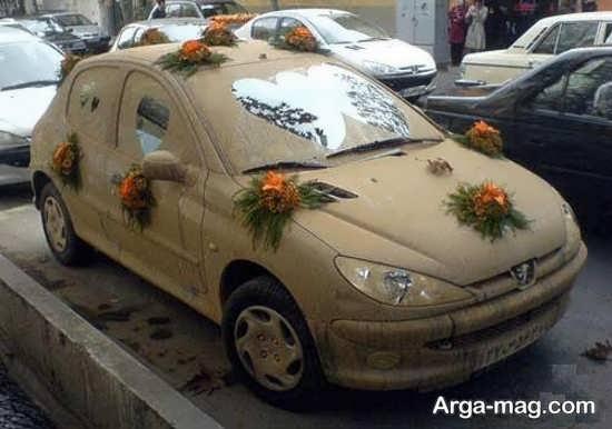 تزیینات خاص ماشین عروس