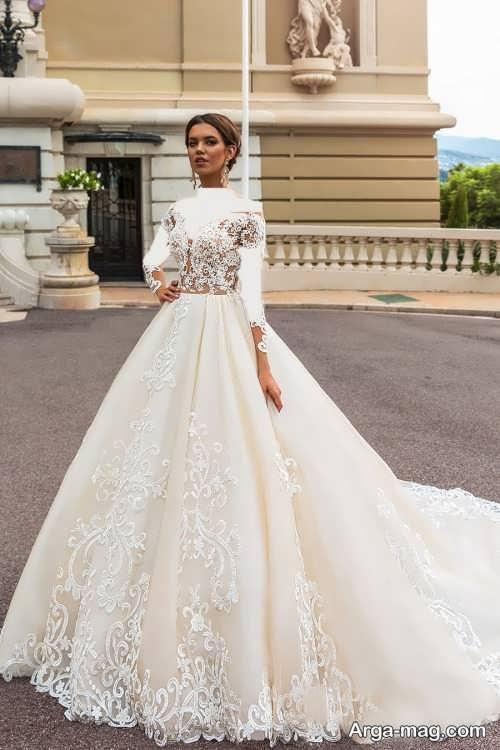 لباس عروس دنباله دار و شیک
