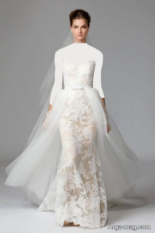 مدل لباس عروس کار شده و جذاب