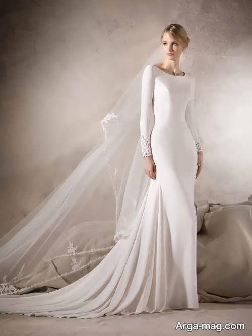 مدل پیراهن عروس ساده و شیک