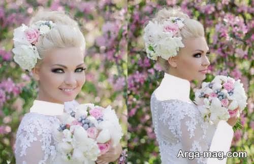 رنگ مو روشن و شیک عروس