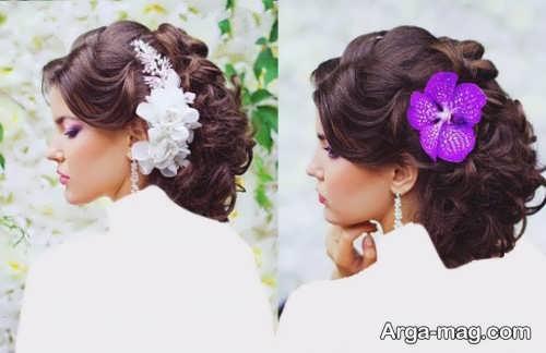 رنگ موی تیره برای عروس