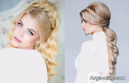 رنگ مو جذاب و متفاوت برای عروس
